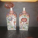 Rare Pair of Saki Bottles