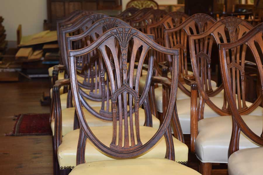 Set of 14 Shield Back Chairs