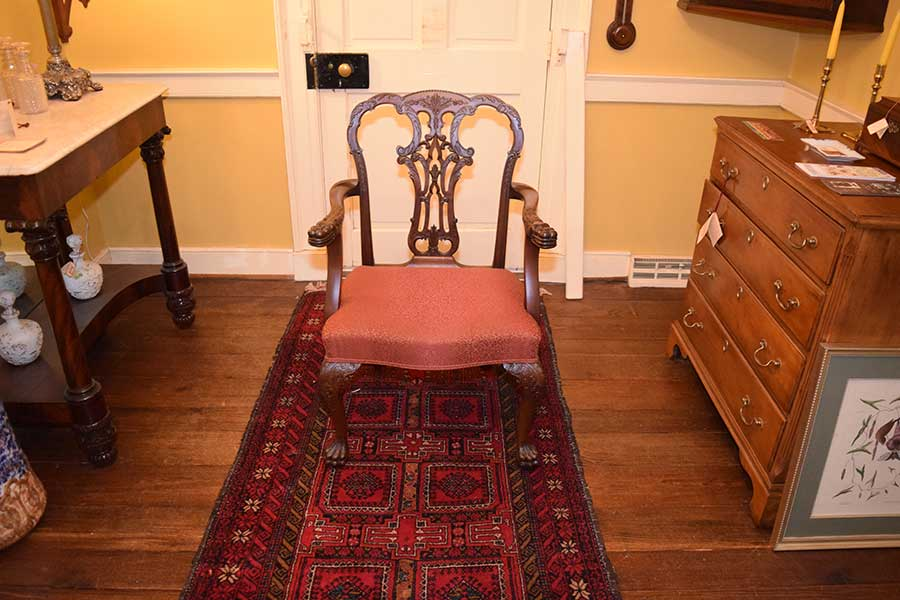 Set of Ornate Chippendale Chairs