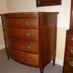 Sheraton Cherry Bow Front Chest