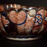 Silver Edged Imari Bowl