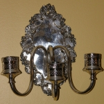 Silver Plate Wall Sconces (SOLD)