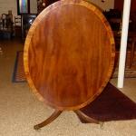 Single Pedestal Oval Table
