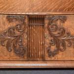 Small, Ornate Oak Sideboard