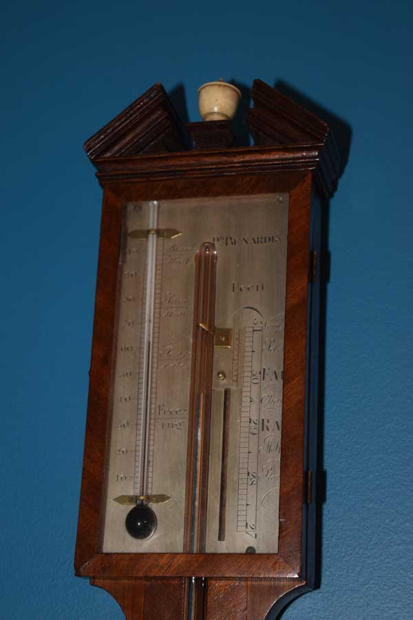 Stick Barometer with Bone Finial