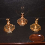 Three 17th Century Candlesticks