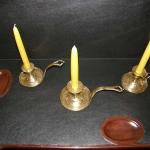Three 18th Century Chamber Sticks