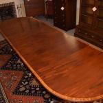 Three Pedestal Dining Room Table