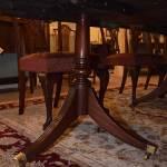 Three Pedestal Duncan Phyfe Dining Table