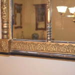 Three Section Overmantle Mirror