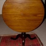 VA or NC Mahogany Tilt Top Table