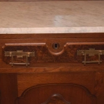 Walnut, Marble Top Sideboard