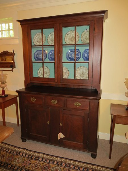 Walnut Stepback Cupboard - Walnut Stepback Cupboard Gates Antiques Ltd. Richmond, VA