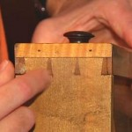 Explaining dovetail joints on furniture.