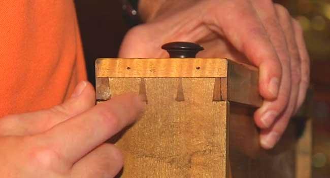 ... Explaining Dovetail Joints On Furniture.