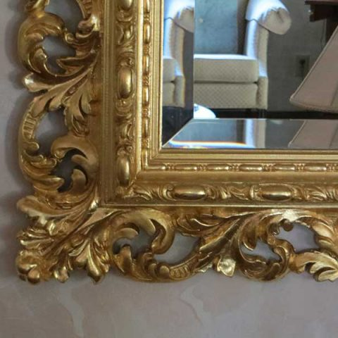 Gold Leaf Mirror Repair